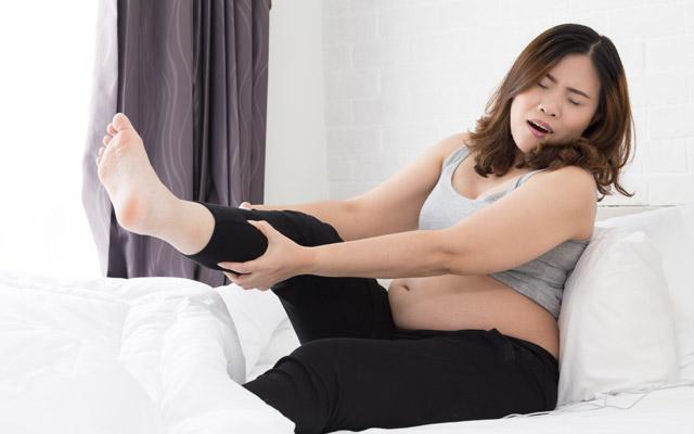 Krči v nogah pri nosečnici